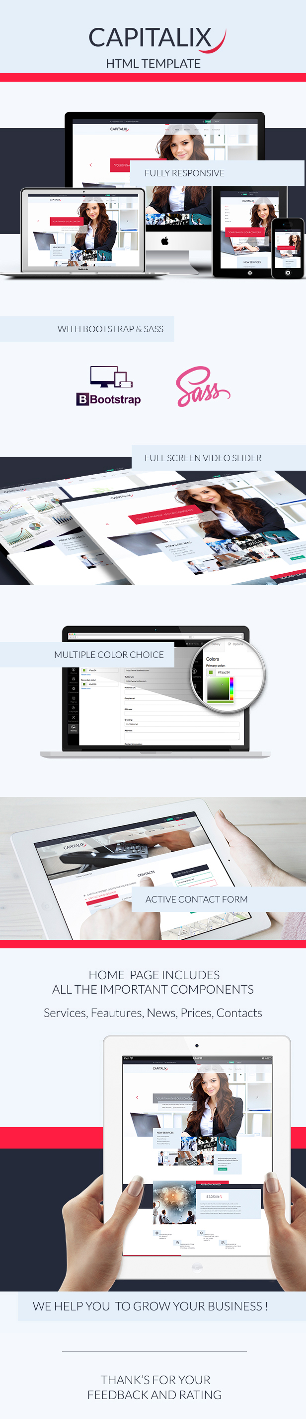 Capitalix — Business Multipurpose HTML Template  - 1