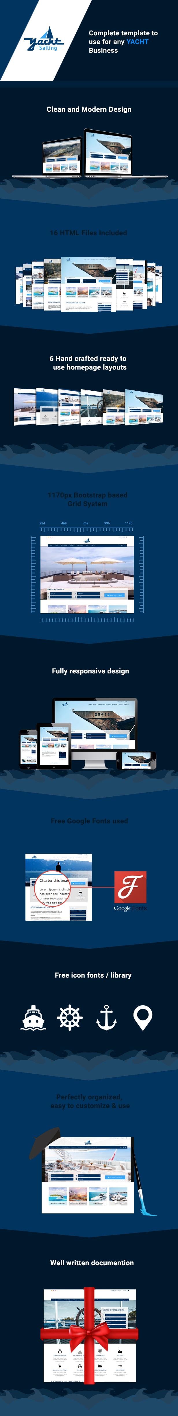 Yacht Sailing -  Marine Charter Booking - Selling template - 1