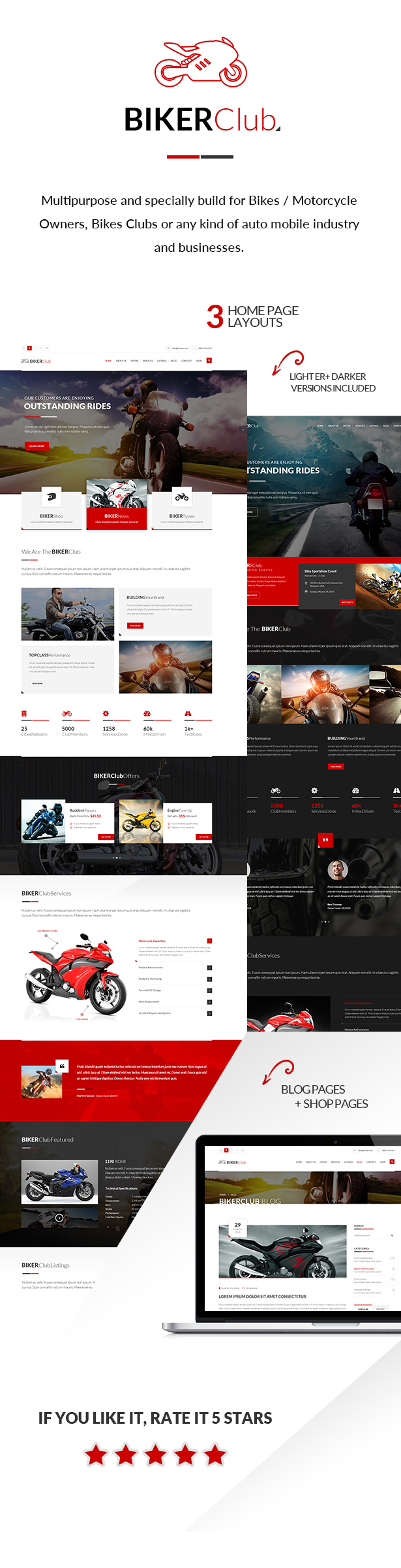 Biker Club - WordPress theme - 1